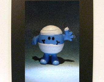 """Framed Mr. Bump Toy Photograph 5x7"""" Little Men"""