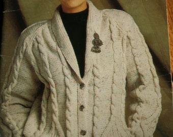 Knitting Patterns Sweaters Cardigans Beehive Patons 661 Men Women Children Vintage Paper Original NOT a PDF