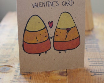 "Valentine's ""A Corny Valentine's Day Card"" Greeting Card"