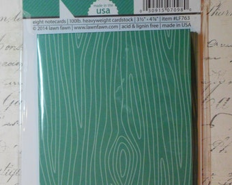 Lawn Fawn: Fawndamentals Notecards in Spruce - 8 Card Set - Approx 3.5 x 4.75 inches