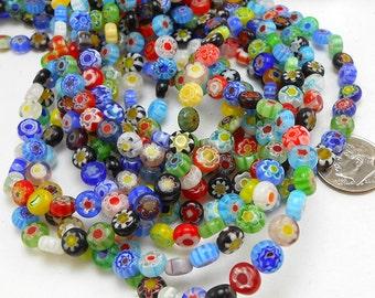 32 Millefiori Glass Beads 6MM (H2535)