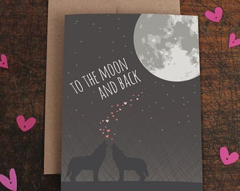 love card / i love you to the moon and back / wolves