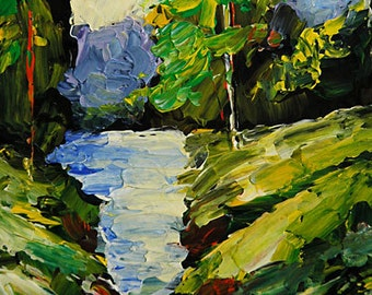 Bobbi Doyle-Maher Southern Landscape  Original painting Acrylic on paper