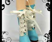 1/6 Lolita lace-up boots for Blythe, Pullip, Dal, Buyl, Obitsu, Momoko