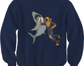 Shark Punch Sweatshirt, Sweater, Warm Long Sleeve, Available in S-2XL