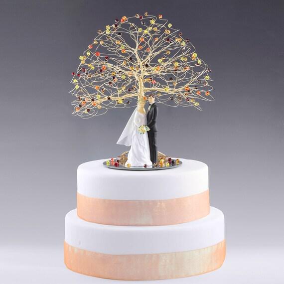 CUSTOM Tree Wedding Cake Topper In Swarovski Crystal