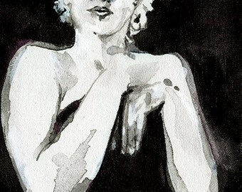 """Framed Marilyn Painting, Original Framed Painting """"Goddess No. 7"""" by Kathy Morton Stanion EBSQ"""