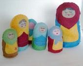 PDF SEWING PATTERN - Stuffed Russian Nesting Doll Hand-Sewing Pattern - babushka doll, softie, stuffed doll, amigurumi, nesting dolls, toy