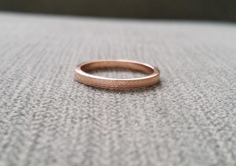 wedding band etched ring vintage antique nouveau