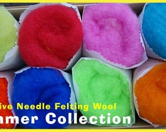 Summer Color Collection Felt Alive Needle Felting Wool 4 oz