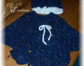 Baby Crocheted Poncho with Hat... 12 months to 18 months***Best for car-seats***