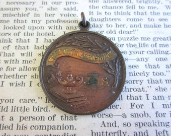 SALE Vintage Oratorical Society Medallion JHS