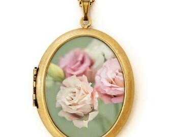 Shabby Chic - Fine Art Photo Locket Necklace - Collaboration with IreneSuchocki