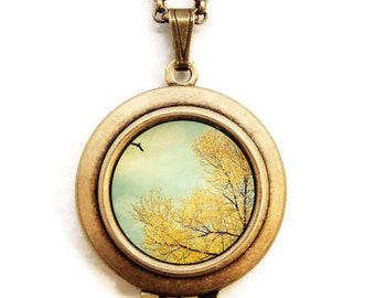 Tell The Sky - Nature Photo Art Locket Necklace