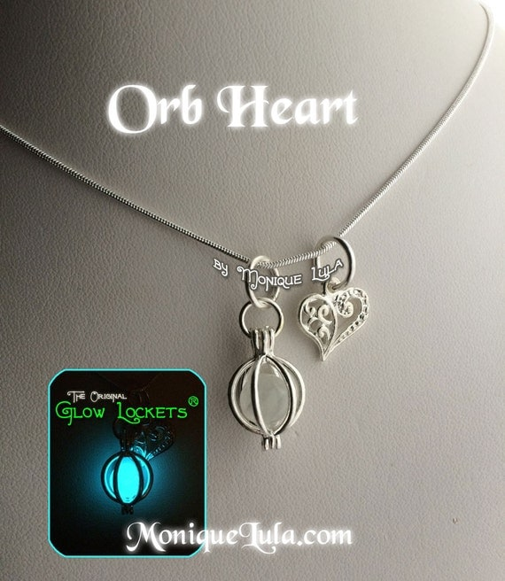 Glowing Orb with Heart Charm Valentine Love Romance Gift