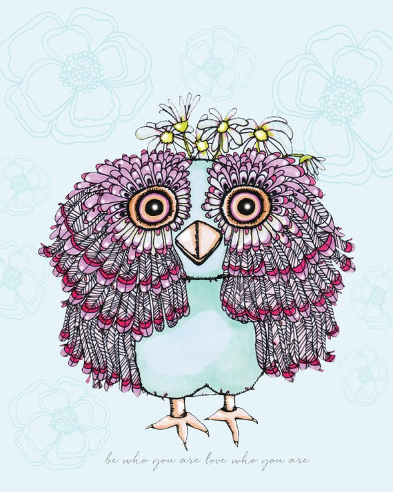 Girly owl nursery : Whimsical inspirational quotes
