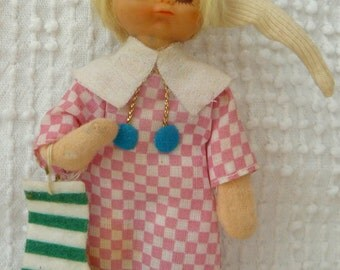 Vintage Sleepy Child Doll Christmas Ornament - sweet nostalgia with a touch of kitsch