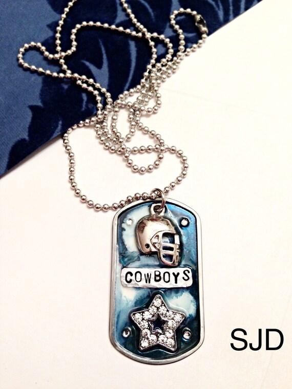 dallas cowboys dogtag sports jewelry cowboys by