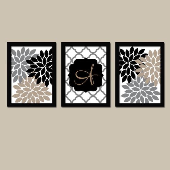 Monogram Wall Art Family Monogram Flower Burst Last Name
