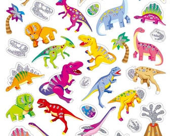 Dino Stickers • Dino Glitz Sticker • Dinosaurs Sticker • Gifts for Boys • Dino Favor • Dino Birthday Party • Dinosaur Birthday (SK4531)