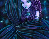 Nova Celestial Djinn Purple Nebula Fairy 4X6 PRINT