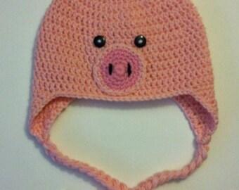 Pink Pig Hat