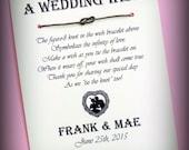 Vintage Chic - A Wedding Wish - Infinity Knot Wish Bracelet Wedding Favor Custom Made for You
