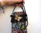 Smartphone Tapestry Butterfly Jewel Wrapped Dangles Necklace Pocket Cell Phone And iPod Case
