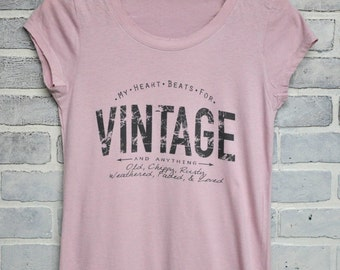 My heart beats for VINTAGE tshirt