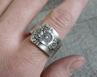 Antique Spoon Ring, Silver Pattern: Spring Charm 1950