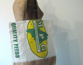 SALE! MAINE Potato Sack Tote, Eco-Friendly, Made in Maine