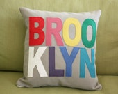 City Pillows // Custom City Pillows // Brooklyn // Austin // Chicago // London// Los Angeles // Nashville // New York // Portland // Seattle