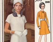 """Vintage Sewing Pattern Vogue 2040 Paris Original Molyneux Dress Size 14 34"""" Bust - Free Pattern Grading E-book Included"""