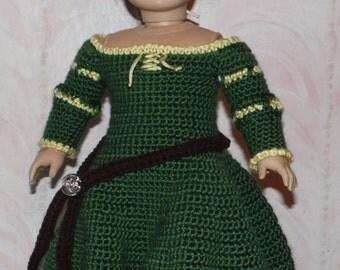 18 inch American Girl Crochet Pattern - Merida inspired gown