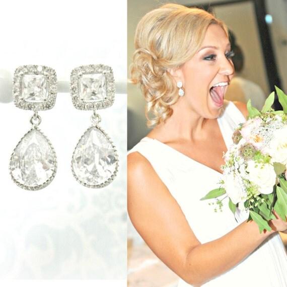 Wedding earrings bride