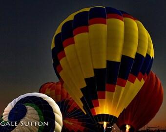 Dawn Fliers - Fine Art Photo - Hot Air Balloons - Inflating Balloons - Balloon Fiesta - Travel Photo - Wall Art - Home or Office Decor