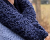 REDUCED PRICE! Blue Handspun Infinity Scarf