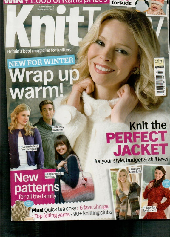 Knit Today Knitting Magazine Issue 54 December 2010