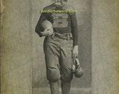 8x10 WHO DEY Bengals Football antique photograph