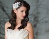 Bridal Hair Clip, Crystal Rhinestone Headpiece, Wedding Hairpiece, Bridal Birdcage Fascinator - Chantal