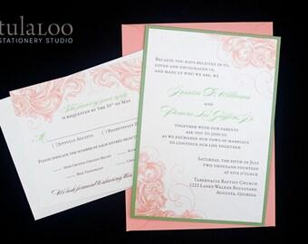 "Elegant Flourish Wedding Invitation Sample - ""Florence"""