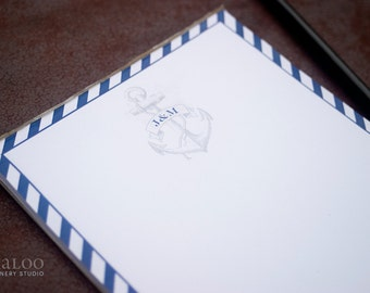 Monogrammed Anchor Nautical Sailing Personalized Notepad