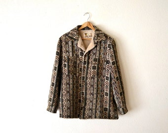 1970's Lakeland Tapestry Sherpa Lined Jacket
