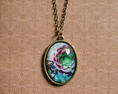 Succulent Photo Necklace