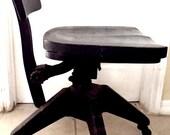 Vintage Wood Metal Industrial Chair by Globe