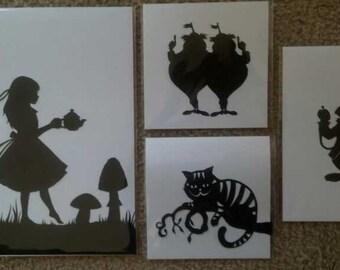 Special listing Alice, White Rabbit, Tweedle-Dee and Tweedle-Dum, Cheshire Cat
