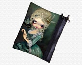Marie Masquerade bag Jasmine Becket Griffith, zippered pouch, wristlet, makeup bag, travel bag, cosmetics pouch