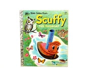 1979 Vintage Little Golden Book Scuffy the Tugboat