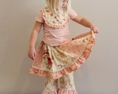 Lily Skirt by RedWagonKids Girls Patchwork Twirly Skirt Ruffle  SKIRT