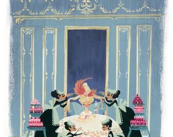 Marie Antoinette Blue - Print